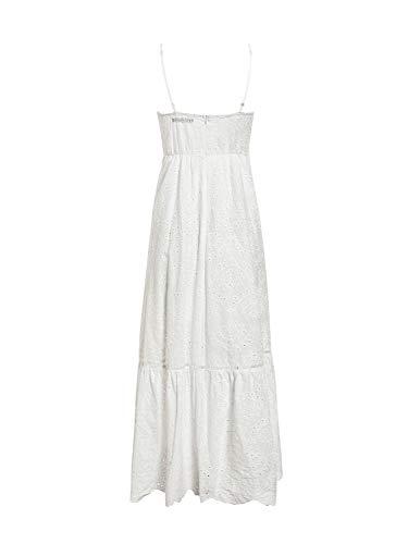 BerryGo Women's Embroidery Pearl Button Down Dress V Neck Spaghetti Strap Maxi Dress 3