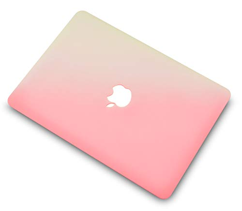 """KECC Laptop Case for MacBook Air 13"""" w/Keyboard Cover Plastic Hard Shell Case A1466/A1369 2 in 1 Bundle (Pink Cream)"""