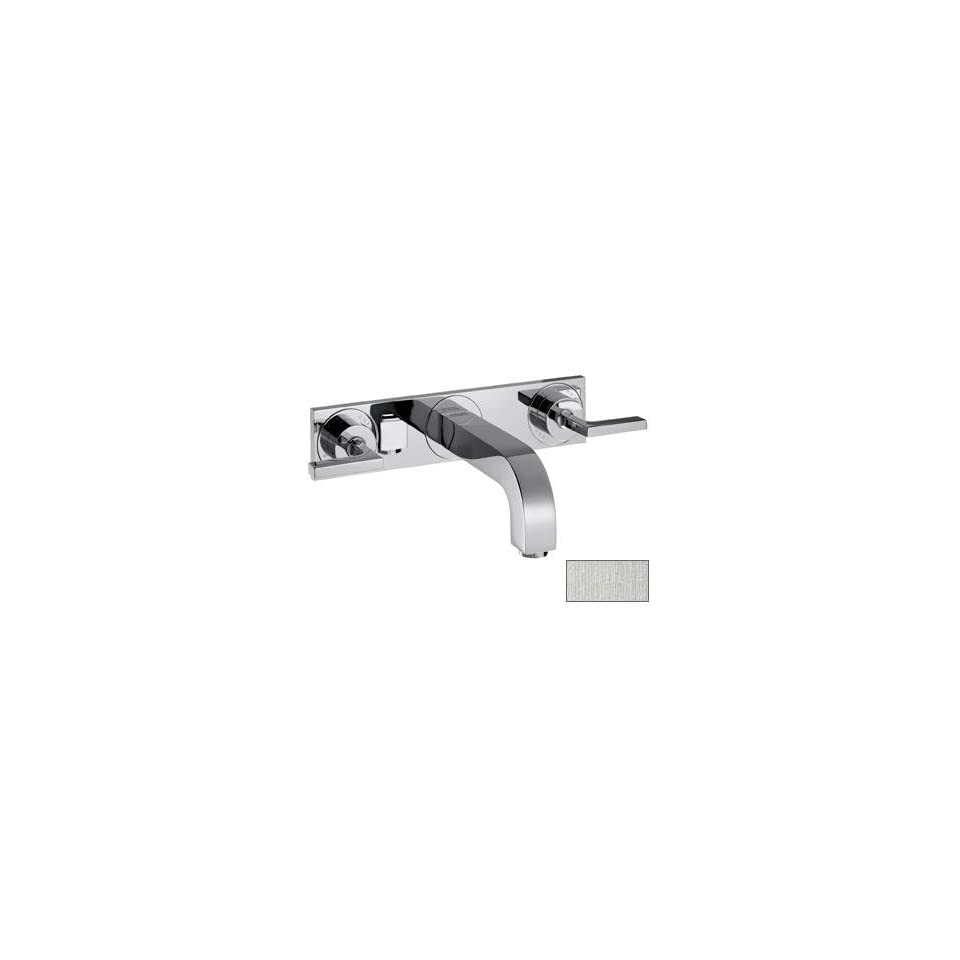 Hansgrohe 39148821 Axor Citterio Wall Mounted Faucet with Lever Handle With Base Plate, Brushed Nickel