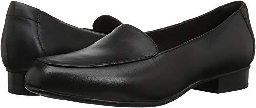 CLARKS Women's Juliet Lora Loafer, Black Leather, 075 M US
