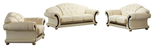 Italian Living Room Set - Apolo Living Room Set in Beige