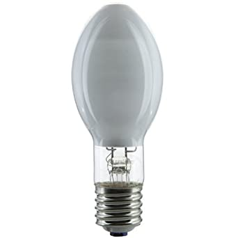 100 WATTS MERCURY VAPOR LIGHT BULB H38 100 DELUXE WHITE MOGUL BASE LONG  LIFE 24,000