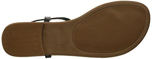 Studs Comfortable Bar Rampage Silver Casual T Pashmina Black Women's Sandal Flat qxqXwv6
