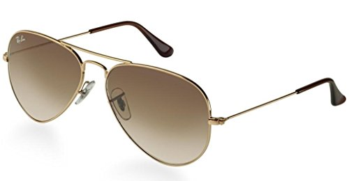 crystal Metal Gradient Non ban Brown polarized Sunglasses mirrored Large Non 3025 Ray Gold Aviator PT6xq