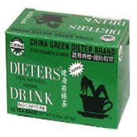 Uncle Lees Teas Dieters Tea China Green, 12 Bags (Pack of 4)