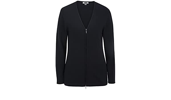 Black XXX-Large Edwards Womens Full Zip V-Neck Cardigan Sweater