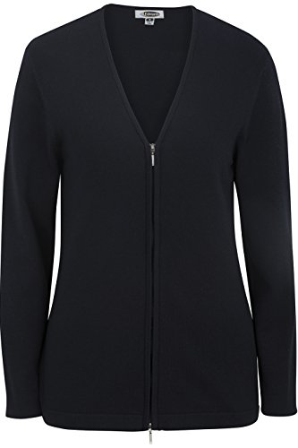 Edwards Women's Full Zip V-Neck Cardigan Sweater, Navy, X-Small - Ladies Full Zip Cardigan Sweaters