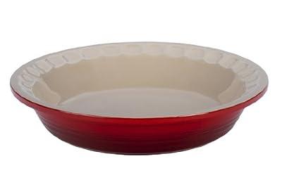 Le Creuset Stoneware Pie Pans, 9-Inch, Cherry
