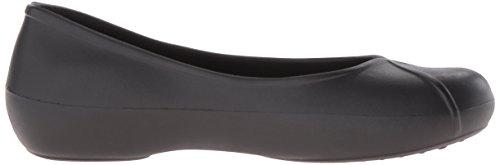 crocs Women's Olivia II Lined Ballet Flat, Black, 6 M US
