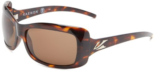 Kaenon Women's Georgia Polarized Oval Sunglasses, Tortoise, 62 mm
