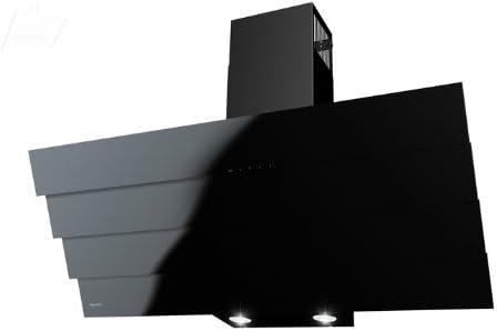 Maan Bravo Quadro - Campana extractora, negra, 90 cm. Cristal negro. Luces LED. Incluye 2 filtros de carbón. Eficiencia UE de clase B - -: Amazon.es: Grandes electrodomésticos