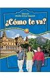Glencoe Middle School Spanish - B : Como Te Va?, Schmitt, Conrad J., 007860351X
