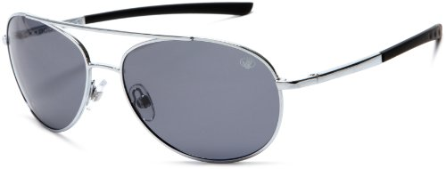 (Body Glove QBG1071 Polarized Aviator Sunglasses,Shiny Silver Frame/Smoke Gradient Lens,one size)