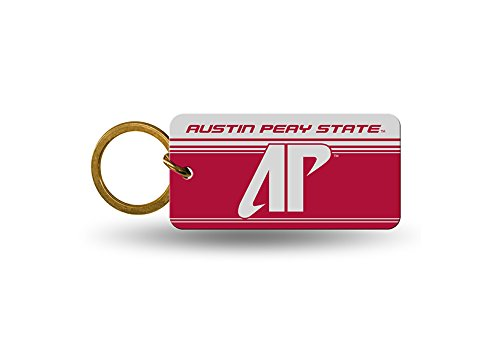 Rico NCAA Austin Peay State Crystal View Keychain, 4 x 3, Logo Color
