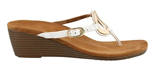 Wedge Orchid Toepost Vionic Women's Park White WqYfIEf