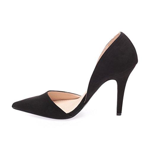 La Sintético Material De Mujer Negro Modeuse Vestir Zapatos BOv4qw6Ba