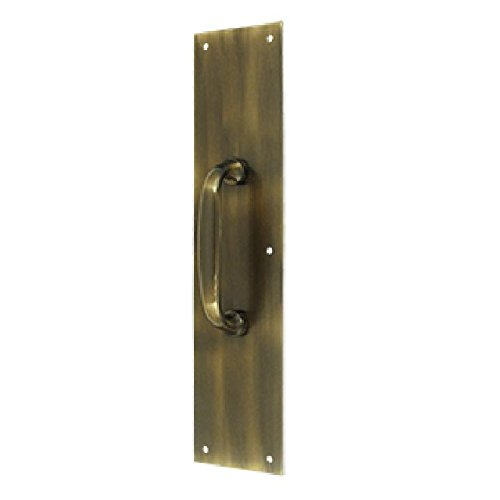 Deltana PPH55U5 3 1/2-Inch x 15 -Inch Push Plate with Handle ()