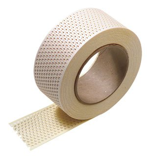Fibatape Drywall - Hyde Tools 09886 Self-Adhesive Paper Joint Tape, 2Ó x 75' Roll