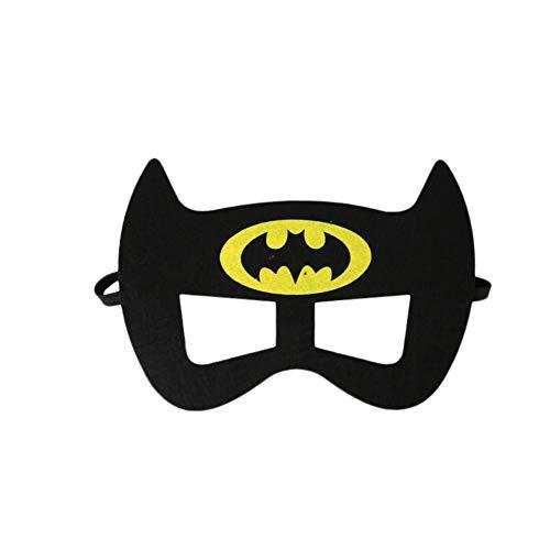 Da.Wa Halloween Makeup Dress Up Mask Eye Mask Non-Woven DIY Children Felt COS Black Bat Mask Decoration 18cm13cm(1 PCS) -