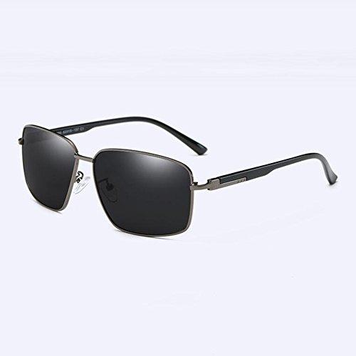 sol masculinas 3 Gafas Manejar Caja Grande Gafas De Sol Luz de Moda Metal ZX Marco 1 gafas Polarizada Color De ZX Personalidad Hombres Clásico qtEggA