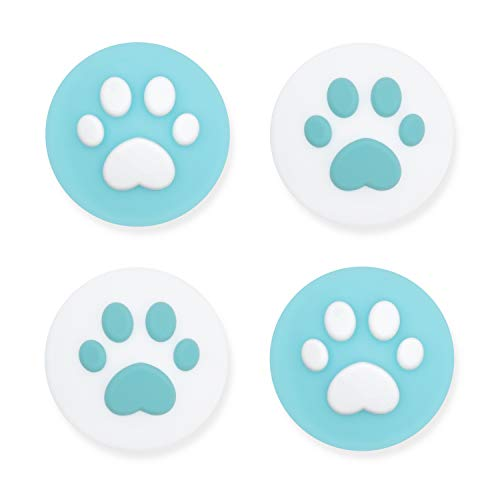 Geekshare 4PCS Silicone Sakura Paw Joy Con Thumb Grip Set Joystick Caps Switch and Switch Lite Cover Analog Thumb Stick Grips (Cat Claw 08)