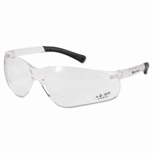Crews BearKat Magnifier Safety Glasses, Clear Frame, Clear Lens (4 Pairs)