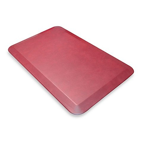 Comfort Mats with Smooth Surface of the Faux Leather Grain, Engineered with High Density Foam. 20-Inch x 32-Inch (Cranberry) by NewLife by GelPro