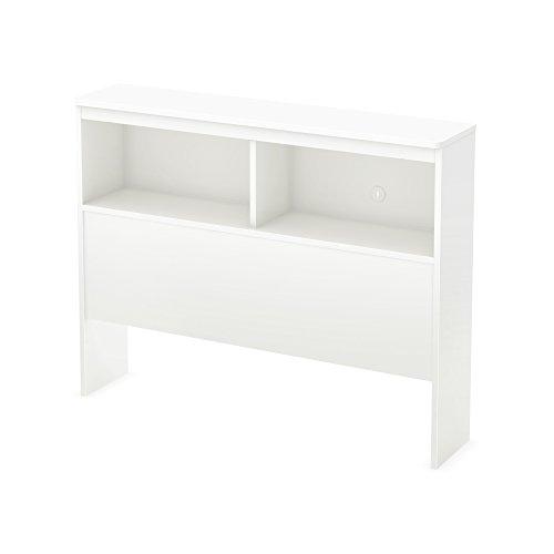 South Shore 39-Inch Libra Bookcase Headboard, Twin, Pure White