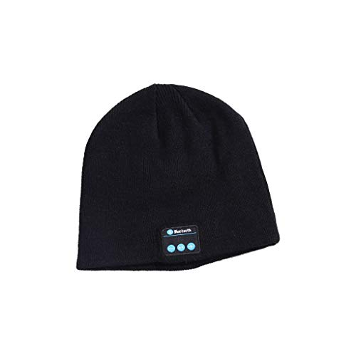 Bluetooth Music Hat with Stereo Headphone Headset Speaker Wireless Warm Beanie by Vovomay (Black) -
