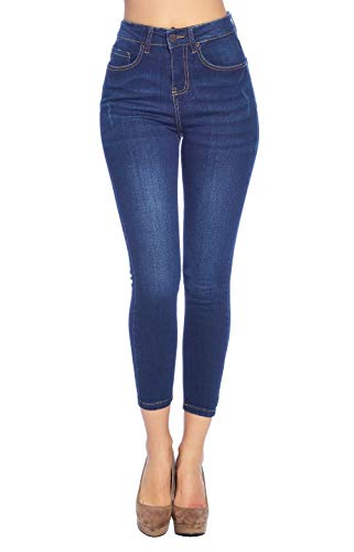 Blue Age Women's High Rise Skinny Ankle Jeans (JP1103H_DK_13)
