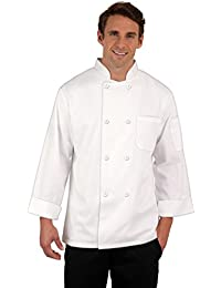 Gain 8 Button Chef Coat White, with Free Red Bib Apron and Chef Hat occupation