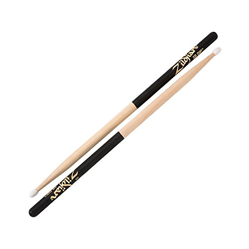 Dip Series Drumsticks - Zildjian 5B Nylon Black Dip Drumsticks
