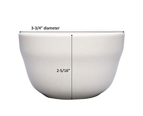 Chef Expressions 7.5-ounce Round Bouillon Cup Vitrified Bright White Porcelain B-121 Case of 12 Restaurant Quality