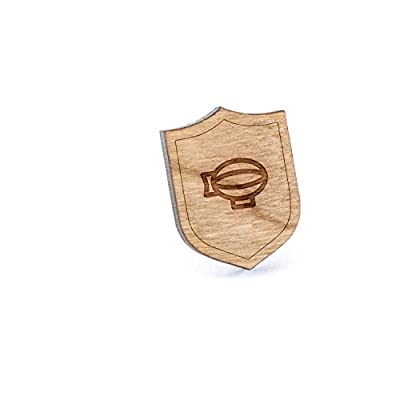 Wholesale Zeppelin Lapel Pin, Wooden Pin And Tie Tack | Rustic And Minimalistic Groomsmen Gifts And Wedding Accessories supplier