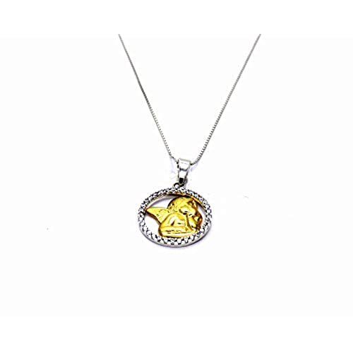 072762976cdb Pegaso Joyería – Collar oro blanco 18 kt cadena Veneta con colgante ángel  Putto – Ángel