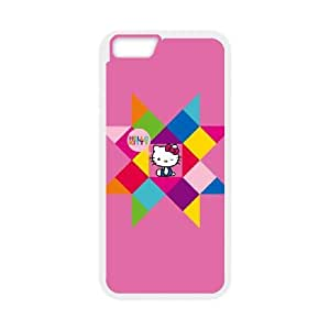 iPhone 6 4.7 Inch Cell Phone Case White Hello Kitty Geometric BNY_6782022