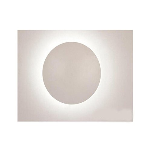 JIN Solar Eclipse Creative Wall Lamp Modern Minimalist Personality Round Slim Led Living Room Bedroom Staircase Decorative Combination Lamp, White Light, Large by SDGDSFV