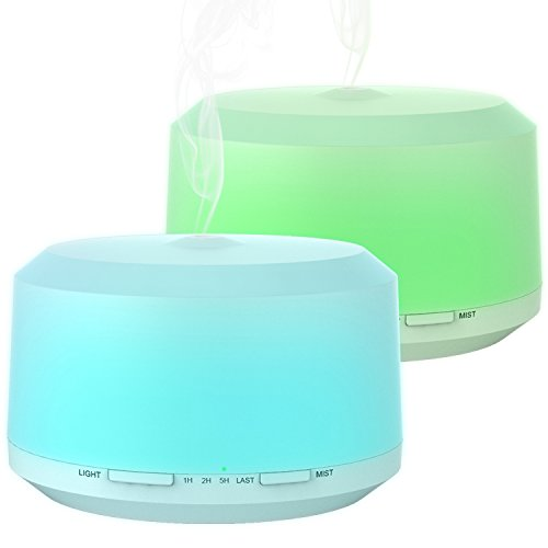 Essential Oil Diffuser, BAXIA TECHNOLOGY 450ml Aromatherapy Diffuser Ultrasonic