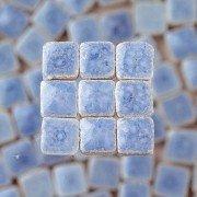 - Mosaix 2295647 10 x 10 x 3 mm 70 g 150-Piece Ceramic Glazed Mosaic Tiles, Light Blue