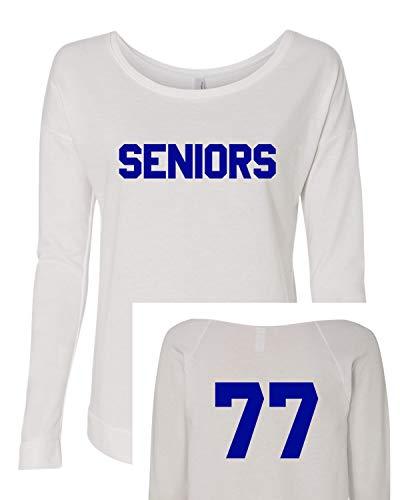 (Seniors Long Sleeve t-Shirt Dazed & Confused Ladies Halloween Costume Raglan | Next Level | Long Sleeve Scoop (Large))