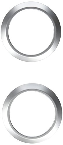Rugged Ridge 11151.10 Brushed Silver AC Vent Trim Cover - Pair