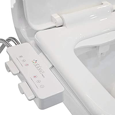 Atalawa AW221 Slim Design Non-Electric Mechanical Bidet Attachment with Dual Self Cleaning Nozzle for Toilet Seat, Fresh Water Sprayer (Cold & Hot Water)