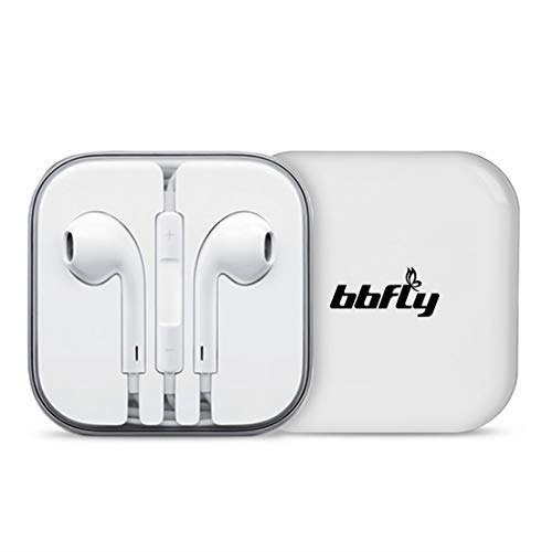 bbfly-H22 [2-Pack] Earphones adphones/Earbuds/Headsets with Remote Control and Mic Fully Compatible Apple Android Samsung Nokia HTC Google Smartphones Tablets (White) (Iphone Headphones 2 Dollars)