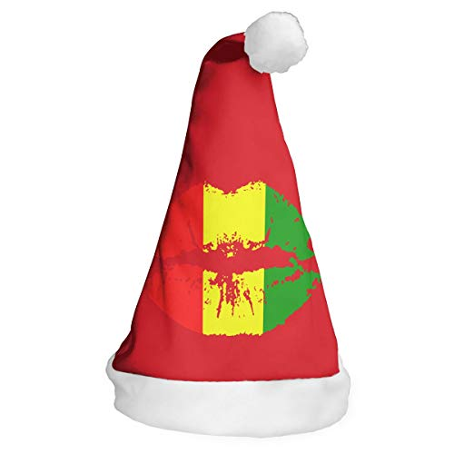 Full-Y'dream Reggae Rasta Lips Santa Hat Chrismas Hat Novelty Xmax Hat Cap -