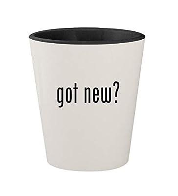 got new? - Ceramic White Outer & Black Inner 1.5oz Shot Glass