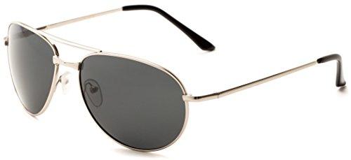 sunglass-warehouse-maverick-1121-matte-silver-frame-with-smoke-lenses-unisex-aviator-sunglasses