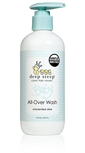 Deep Steep Baby All-Over Wash, 10 Ounces (Unscented Aloe) by Deep Steep
