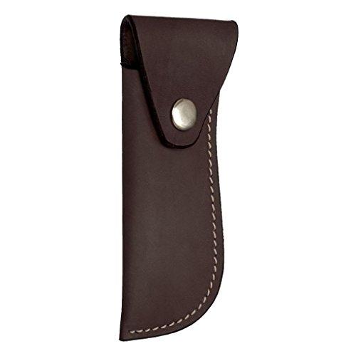 - Smooth Leather Hoof Pick/Knife Holder - Dark/Oil