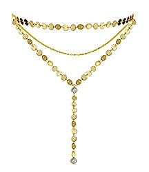 Women's Coin Layered Gold Tone Choker Necklace