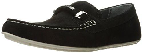 Calvin Klein Men's Ignacio Slip-On Loafer, Black, 8 M US (Calvin Klein Black Suede Loafers)